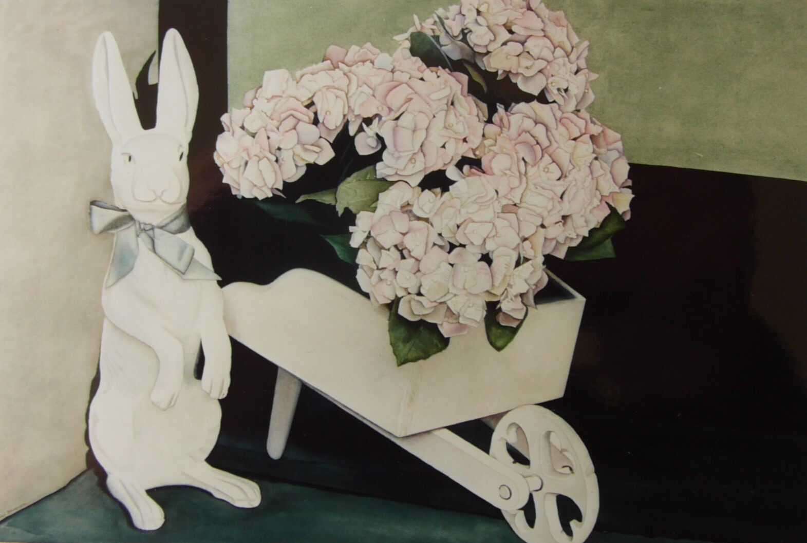 Rabbit with Hydrangeas