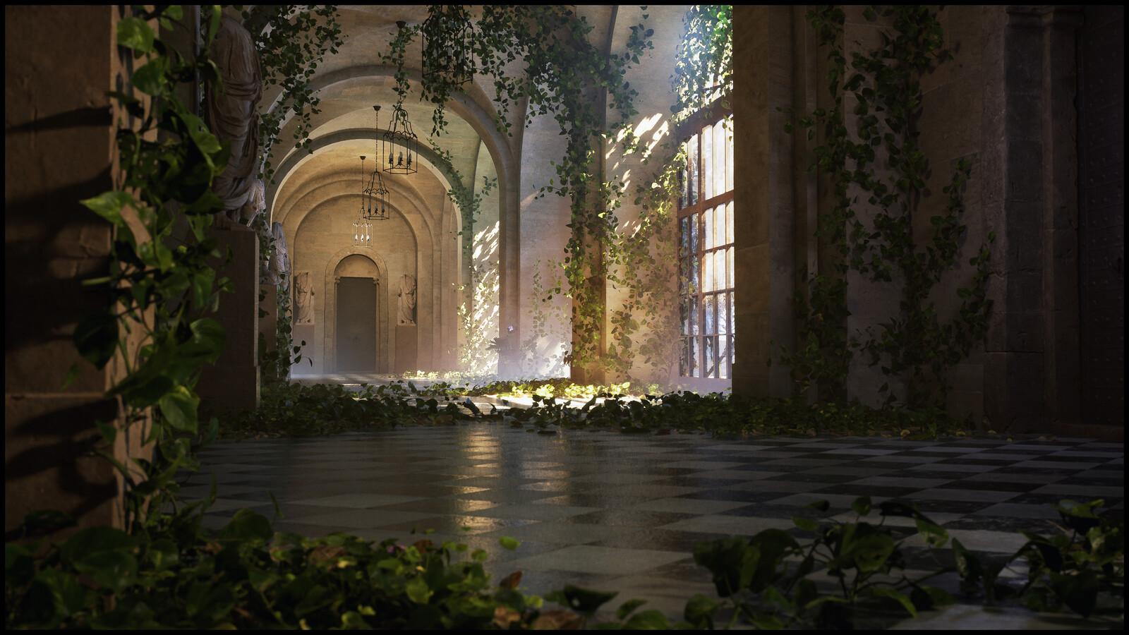 Overgrown Palace - Unreal Lighting Study