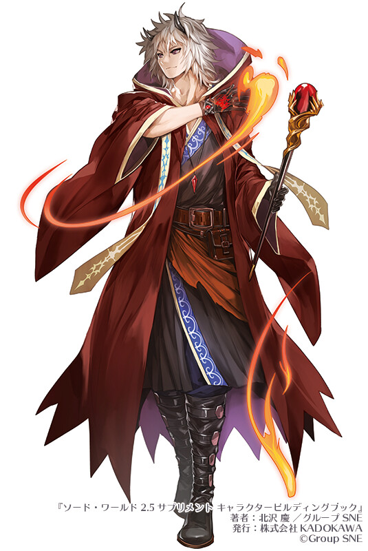 """Swordworld2.5 Character building book "" Image charactor illustration 2"