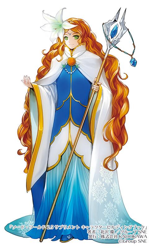 """Swordworld2.5 Character building book "" Image charactor illustration 4"