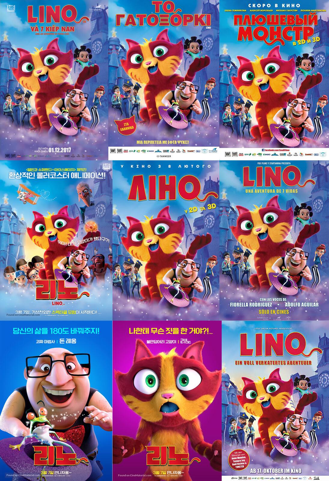 Movie posters around the world.