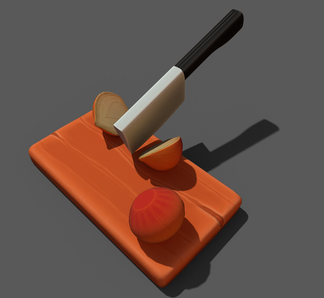 Stylized Onion Chopping Board.
