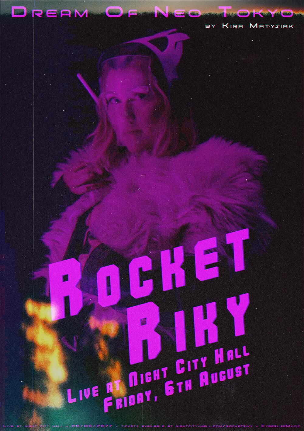 Rocket Riky Fan Poster Cyberpunk 2077