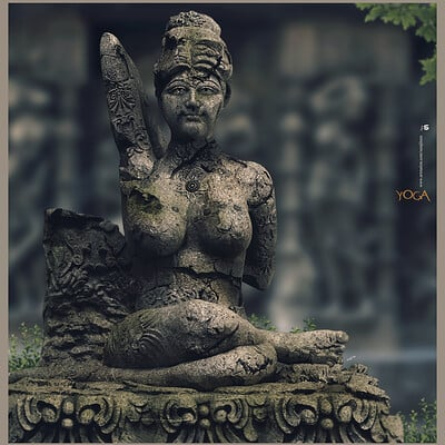Surajit sen yoga day digital sculpture surajitsen june2020a