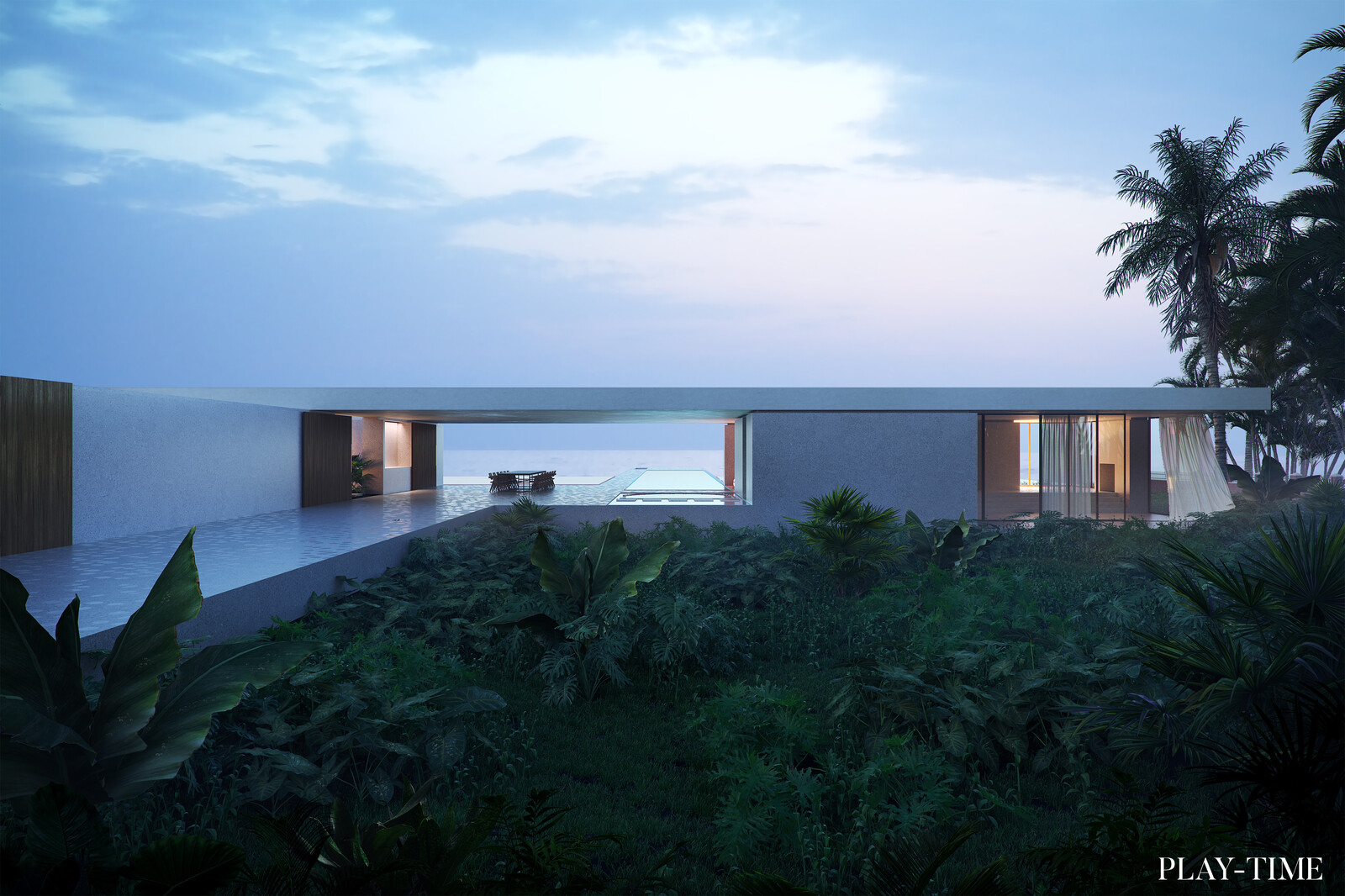 House by the ocean