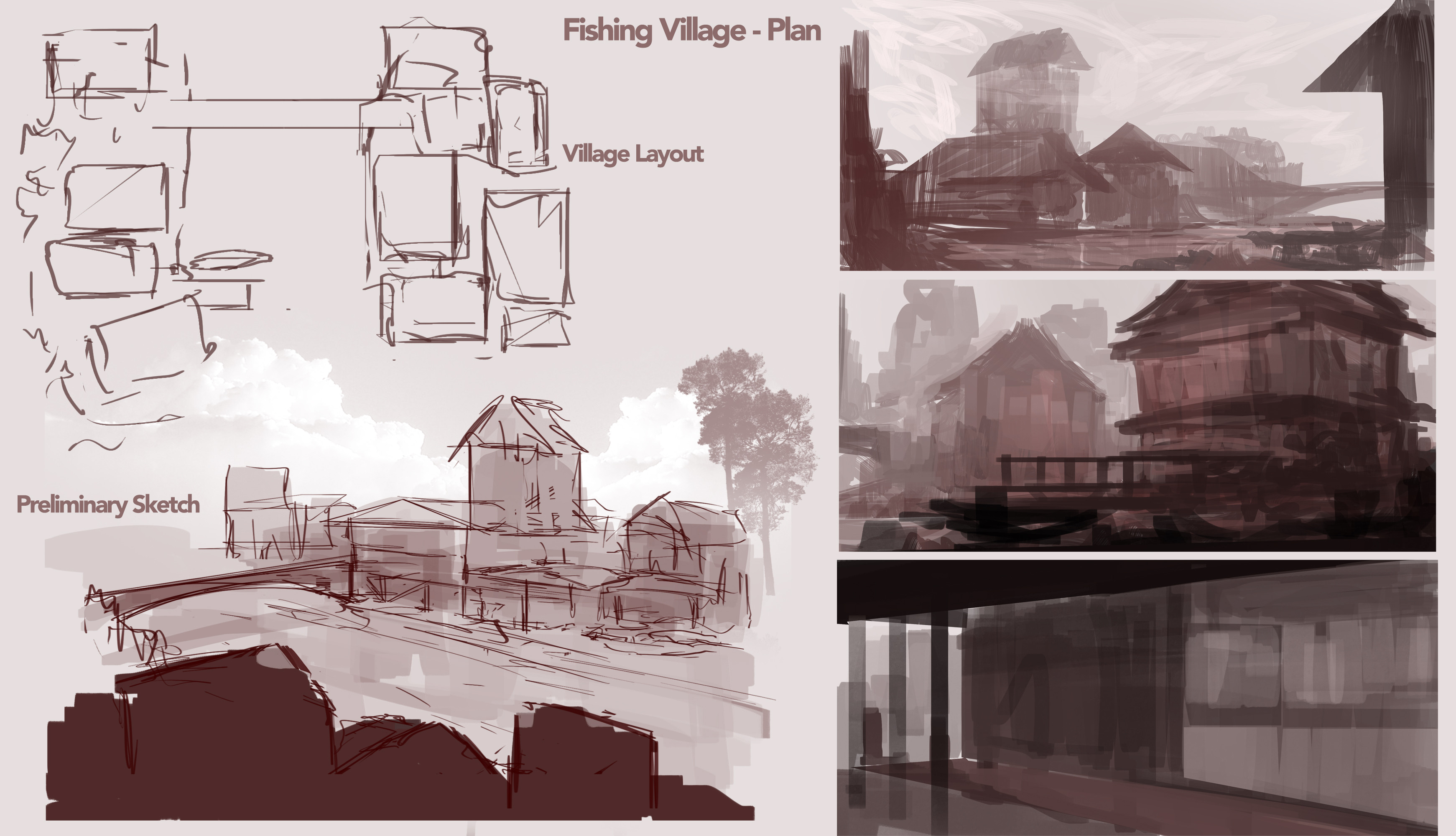 early exploration of how the town could be laid out