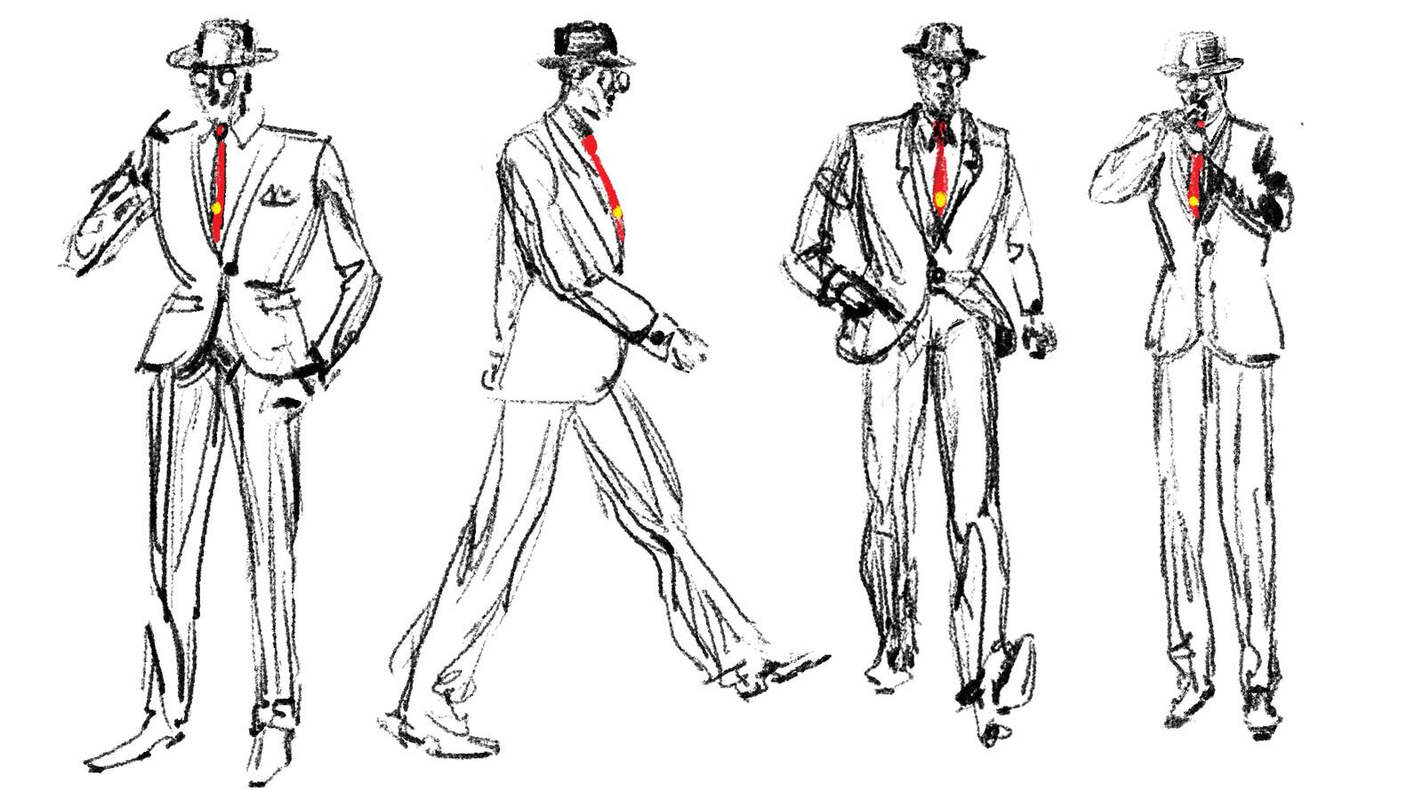 Character design for  Jean-Claude De La Ronde.