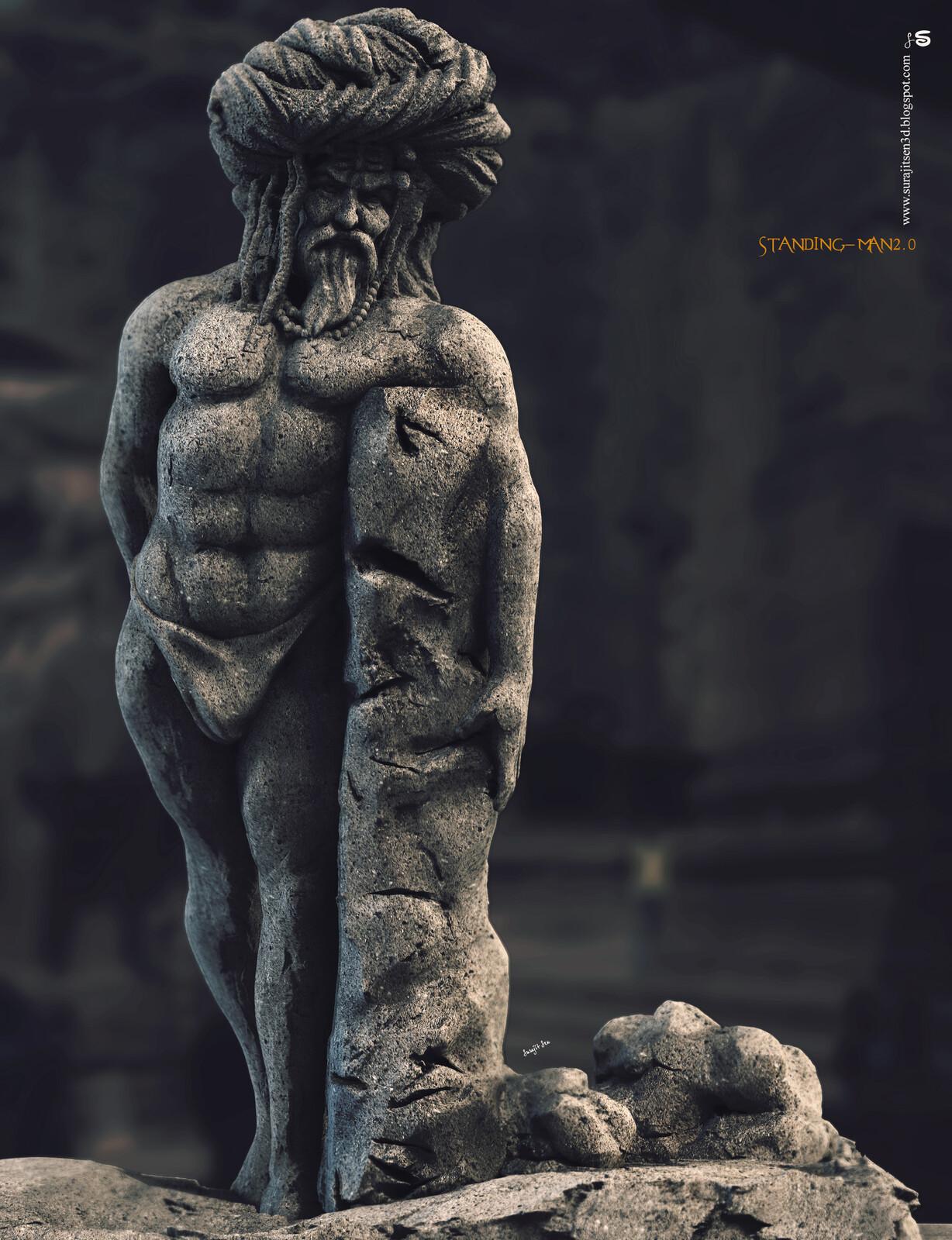 Standing Man2.0 Study work. Digital Sculpture. Updated version one of my Sculptures. Background music- #hanszimmermusic