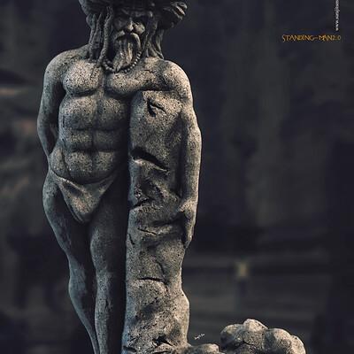 Surajit sen standing man2 0 digital sculpture surajitsen june2020a
