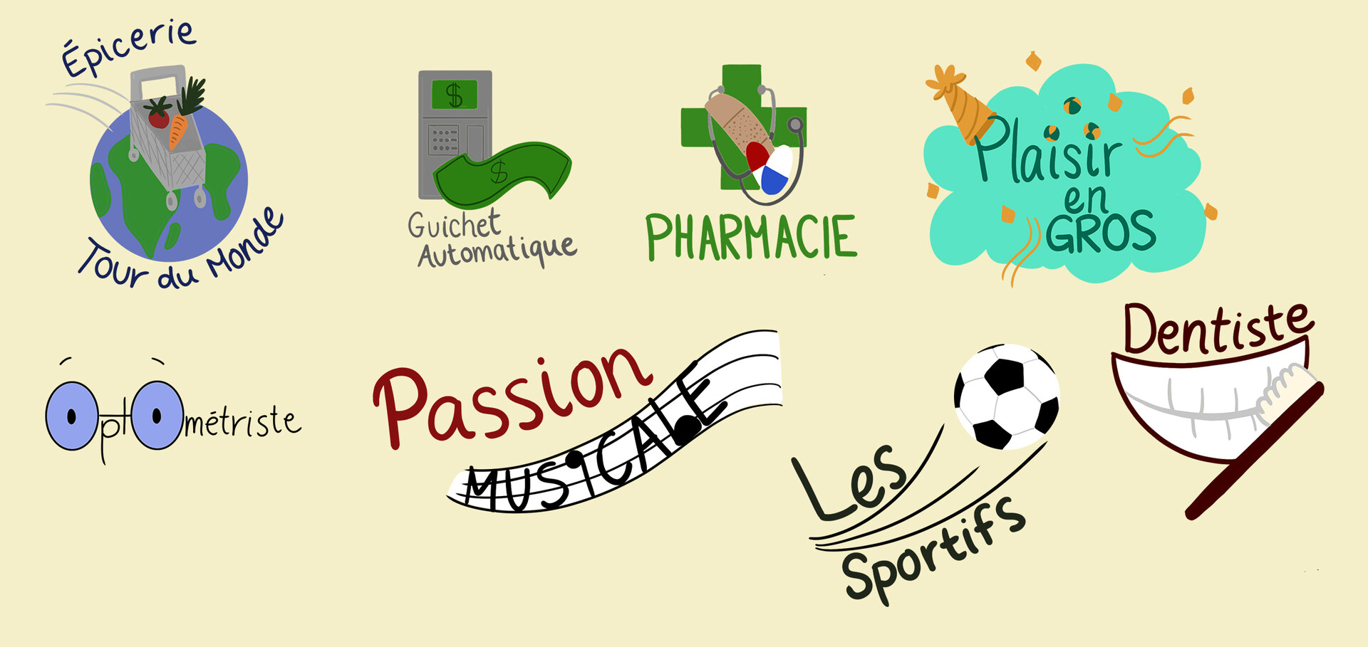 Some logos to go on the map of the area!