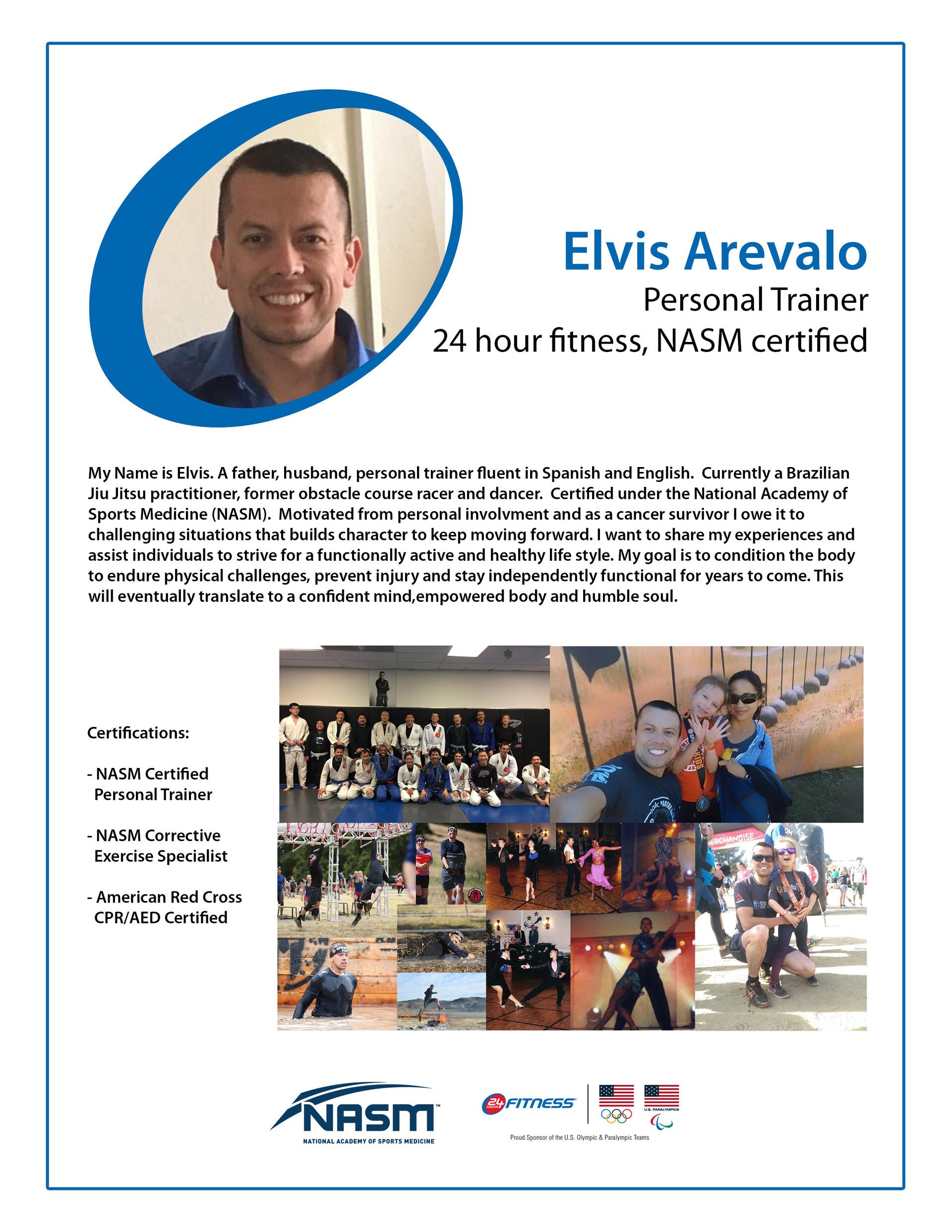 Personal trainer Bio Page