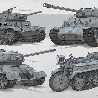 Edgaras cernikas wwii machines tanks 1920x1200
