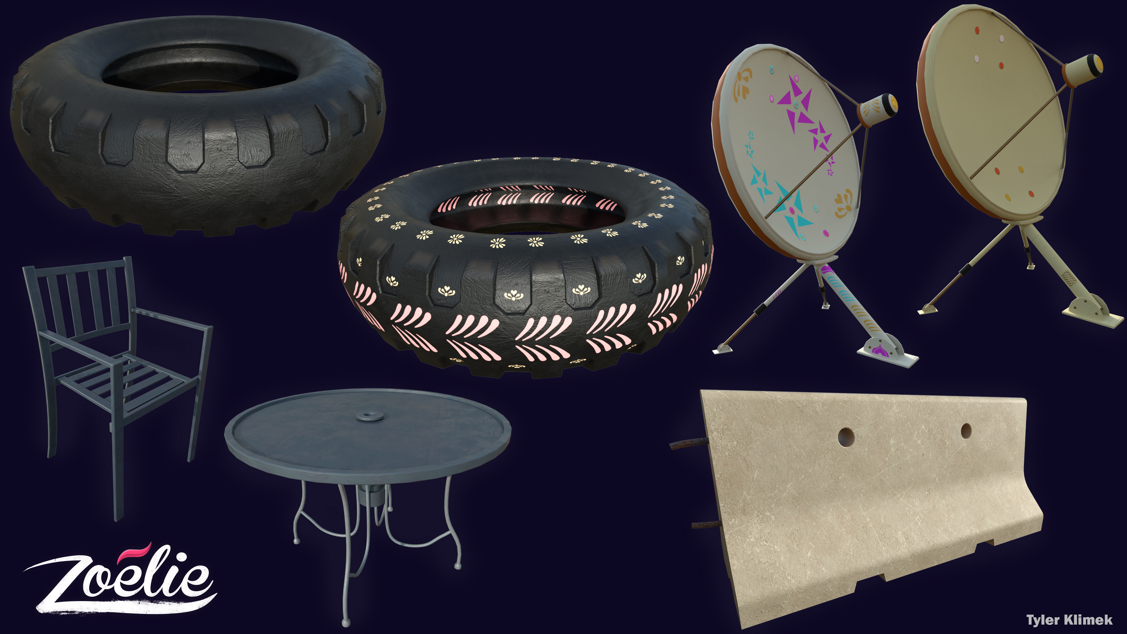 Other assets I created that are not in individual renders: