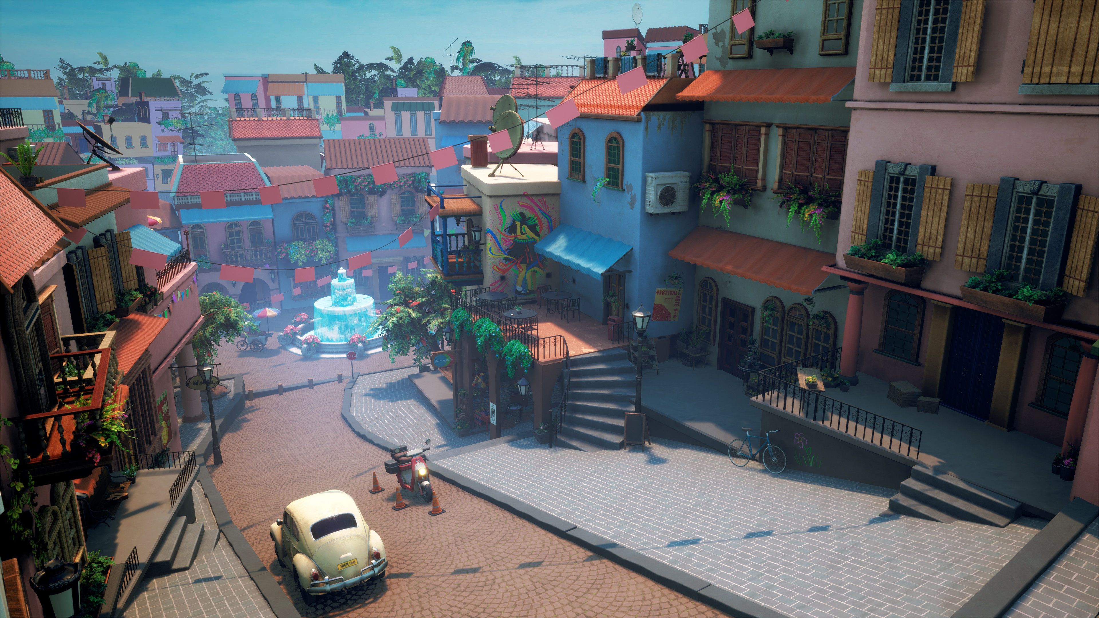 Towards the end of our ~20 week development cycle I worked on further developing our lighting in the Urban environment.