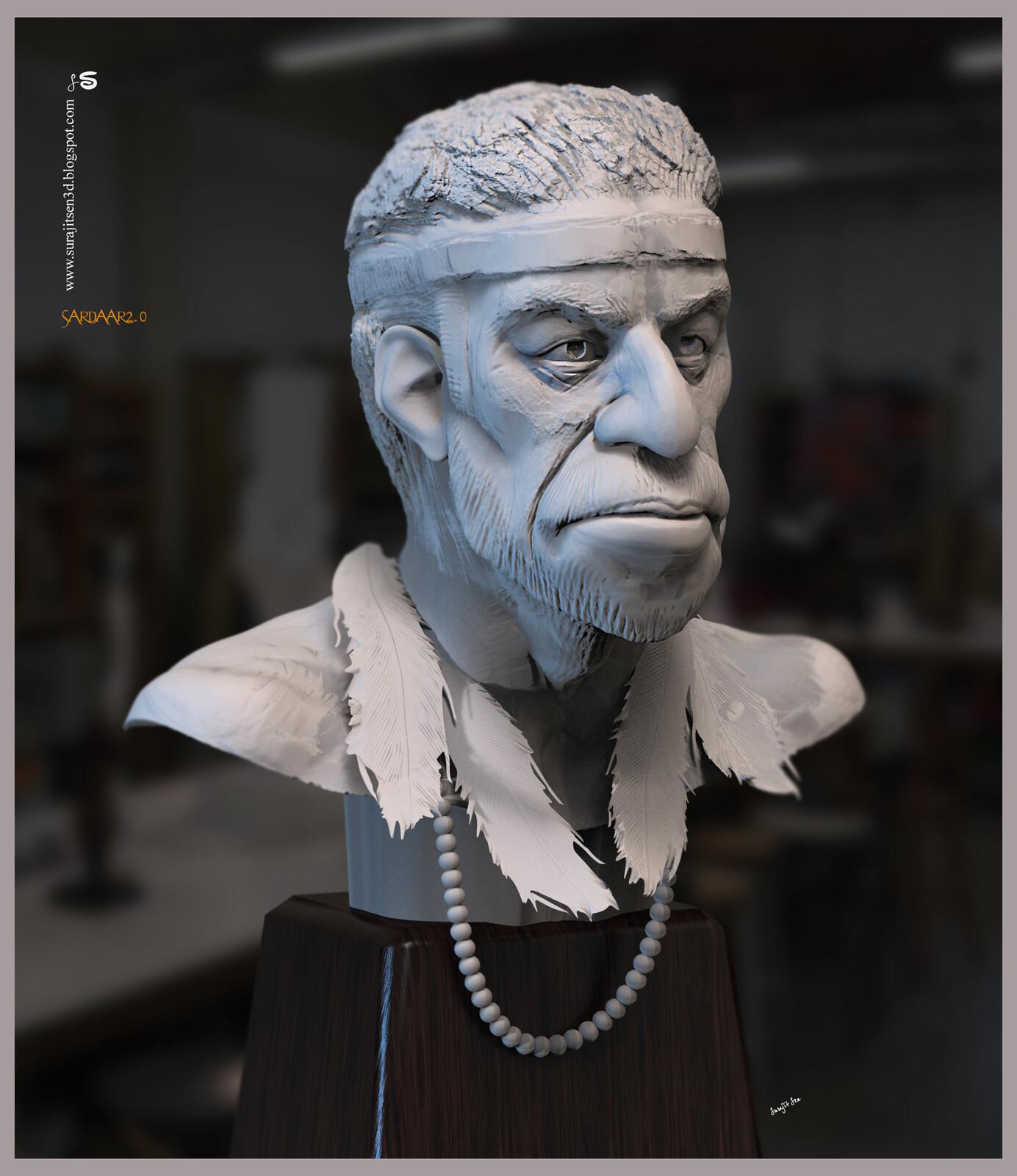 Sardaar2.0 Digital Sculpture One of my study works.. Background music- #hanszimmermusic