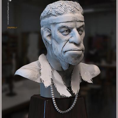 Surajit sen sardaar2 0 digital sculpture surajitsen june2020aa