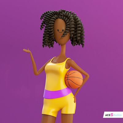 Curly hair African girl