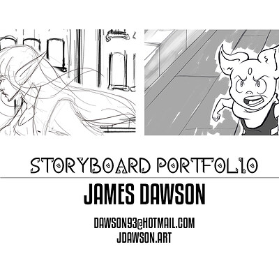 James dawson storybnoard portfolio cover