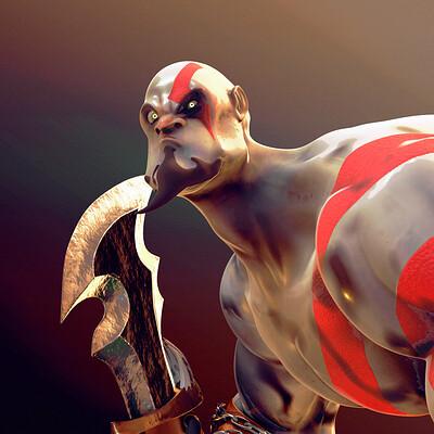 Hector rojo kratos fanart 2