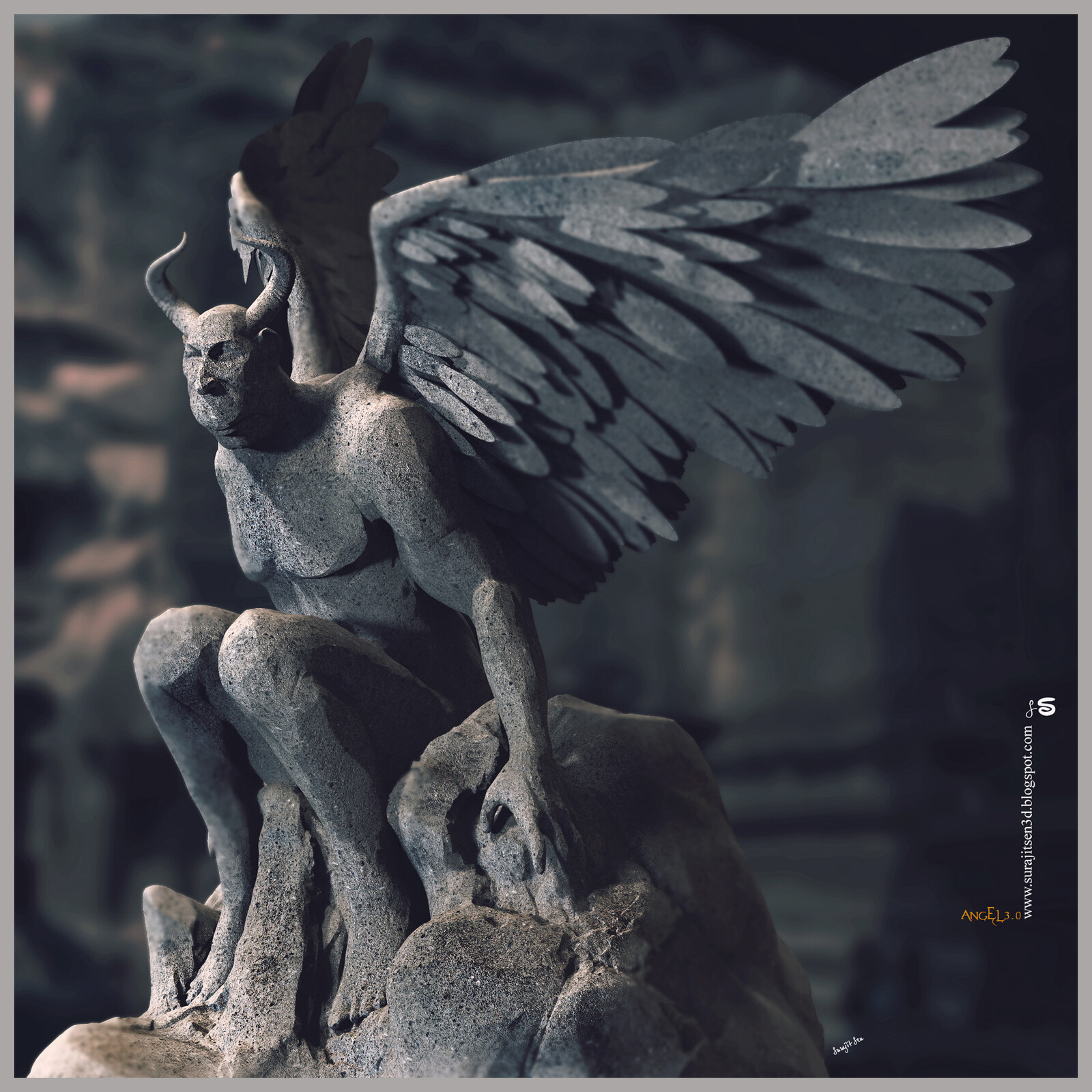 Angel3.0 Digital Sculpture One of my free time Sculpture Background music- #hanszimmermusic