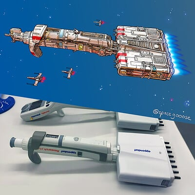 Space gooose pipette ship comp sm