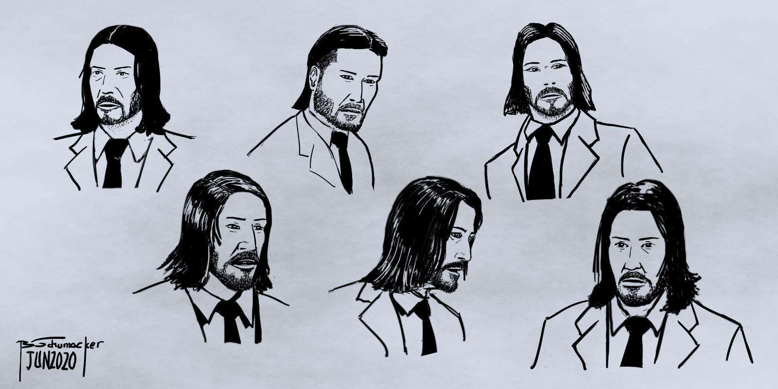 John Wick Studies - Keanu Reeves