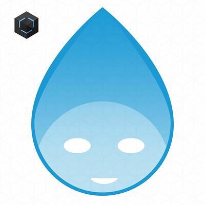 Datec studios logo water drop