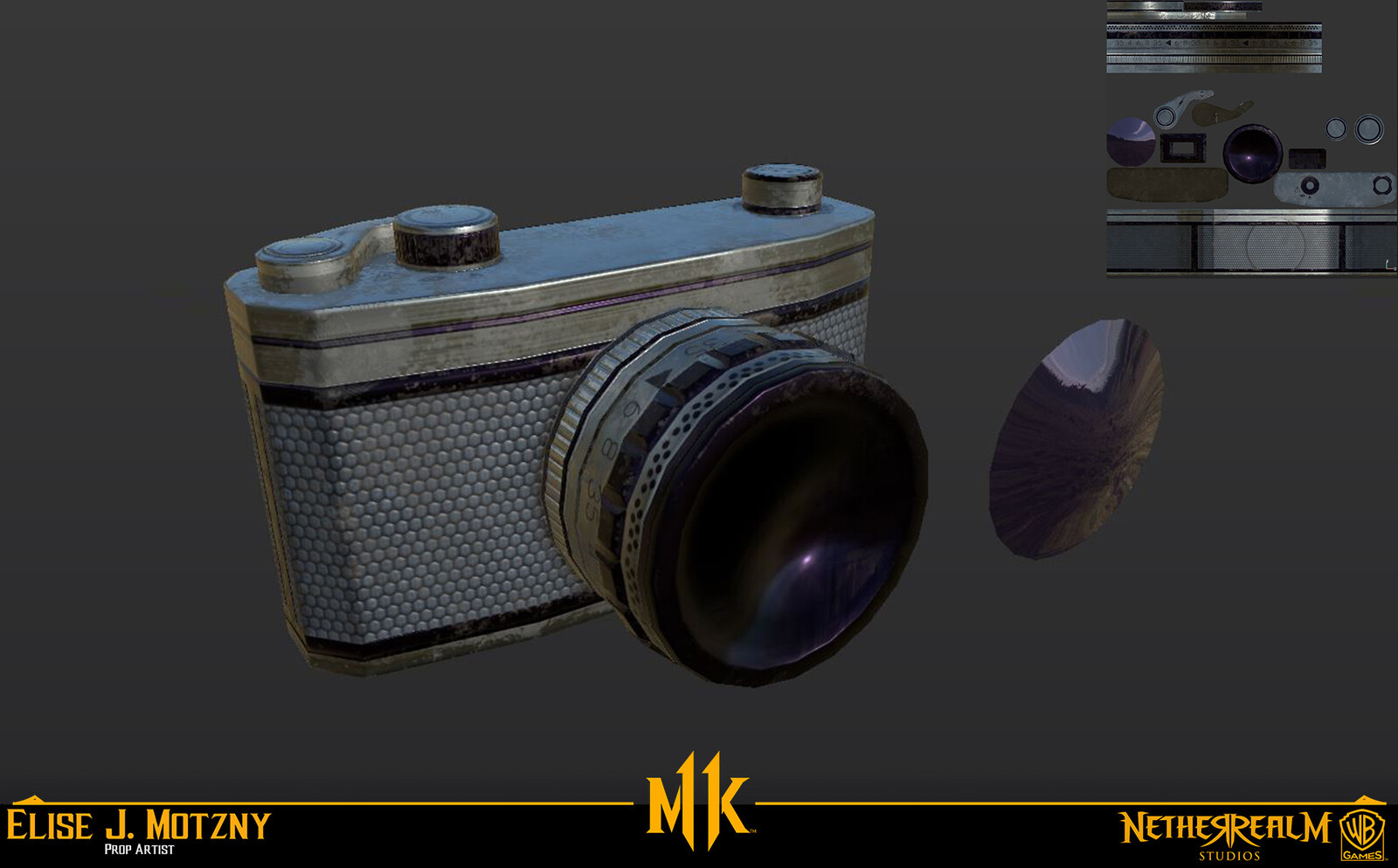Modeled and Textured Johnny's Camera for fightline