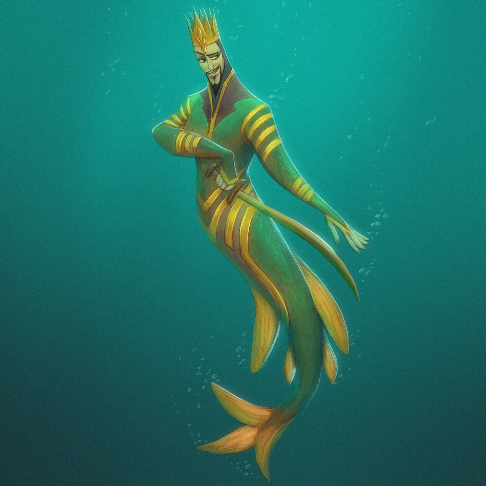 Royalty - For day 5 of mermay.