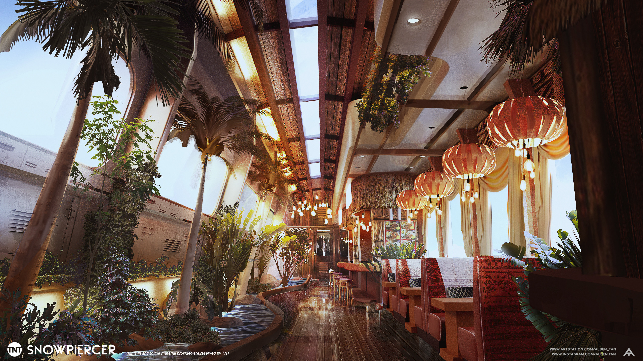 Tropical Cafe Section Access: First Class / Second Class, Car Number: 345