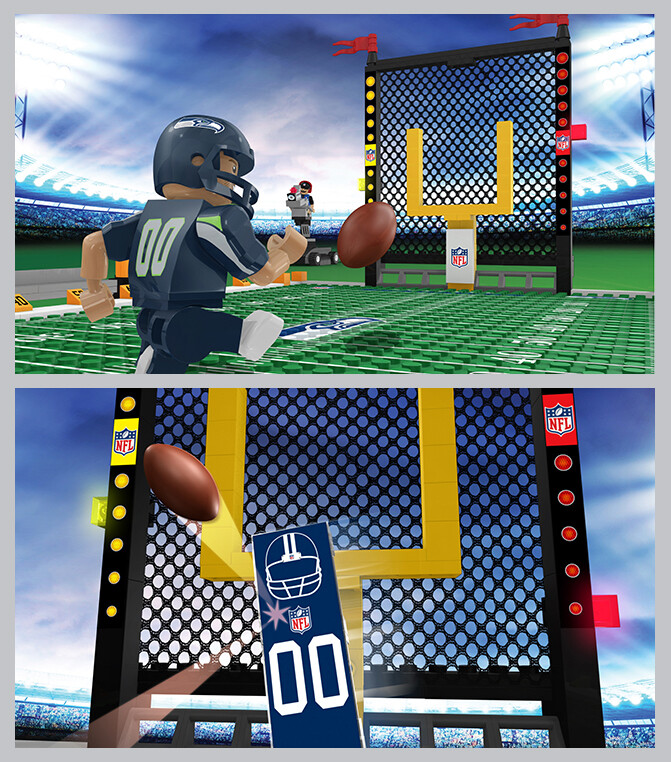 Closeup image renderings for OYO Sports Game Time football field
