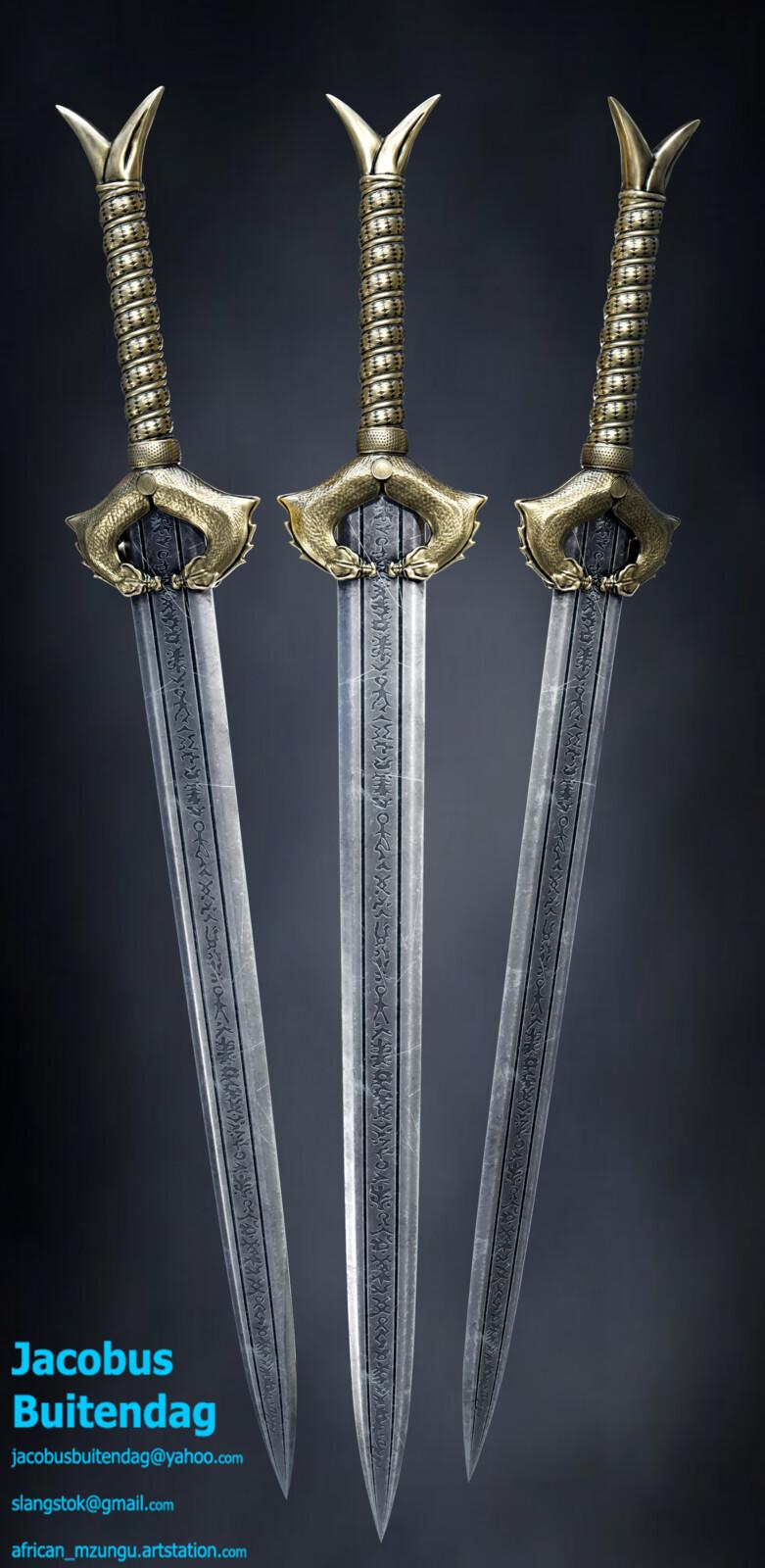 """Low res textured """"godkiller"""" sword"""