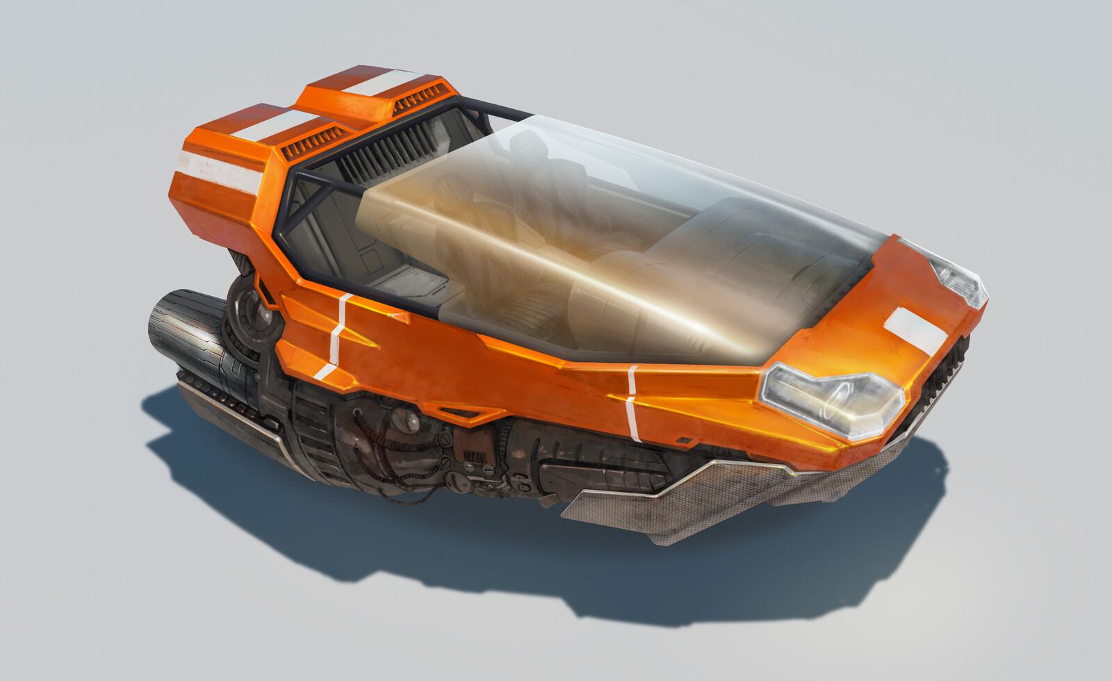 Vehicle Design  - Sci-Fi Hover Car