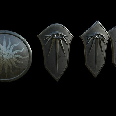 Andrew wilkins inquisition round shield and kite shield