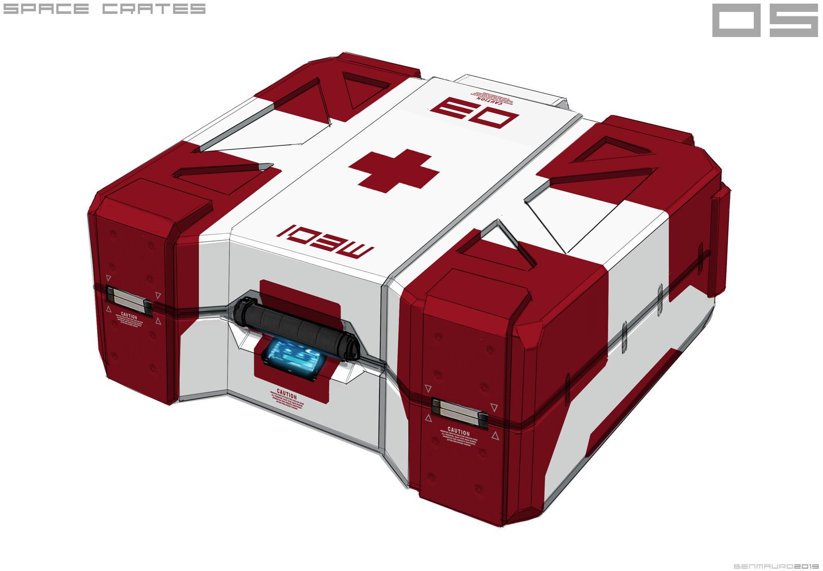 Sci-fi Medical Crate