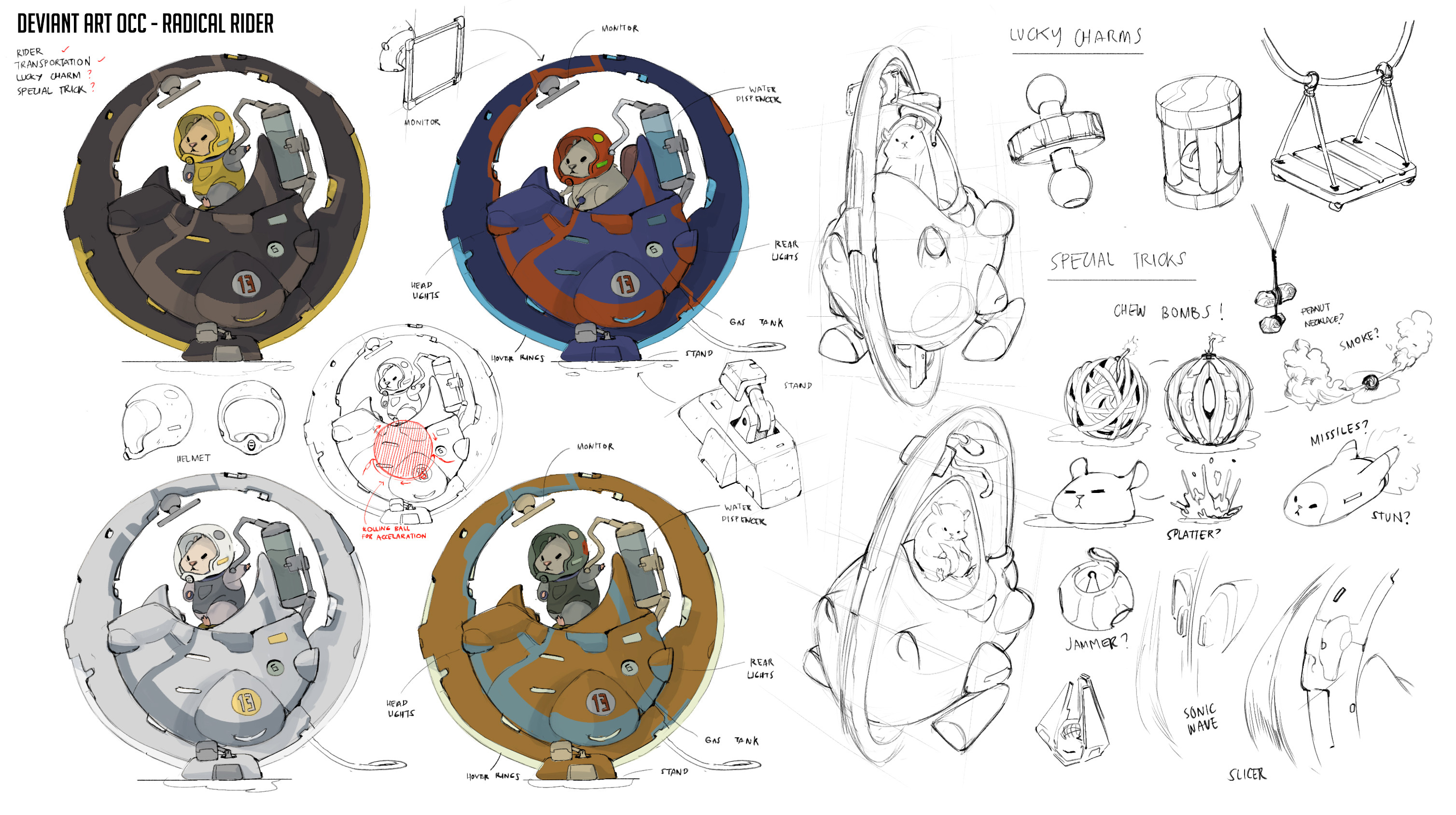 Concept sketches and color studies