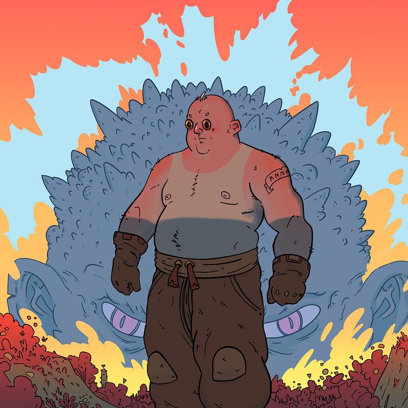 Nonno Giulio nella Terra dei Giganti - comic book cover