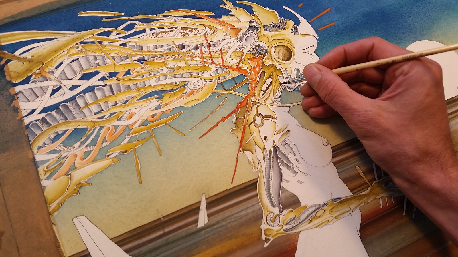 Painting the main figure