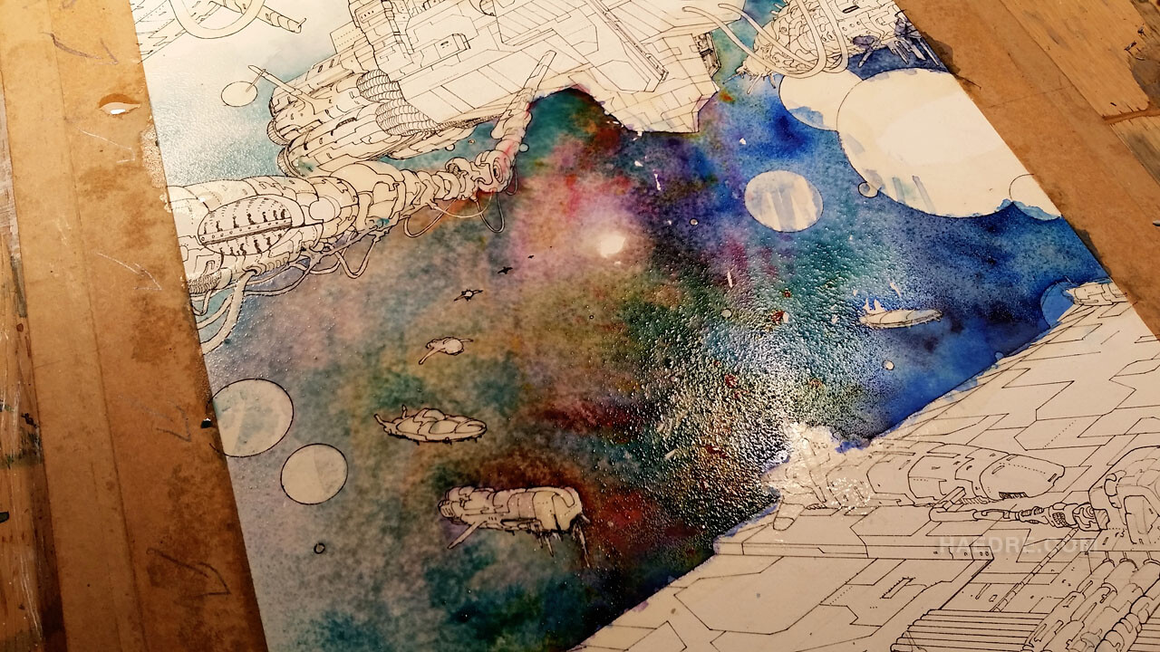 Painting the cosmic background