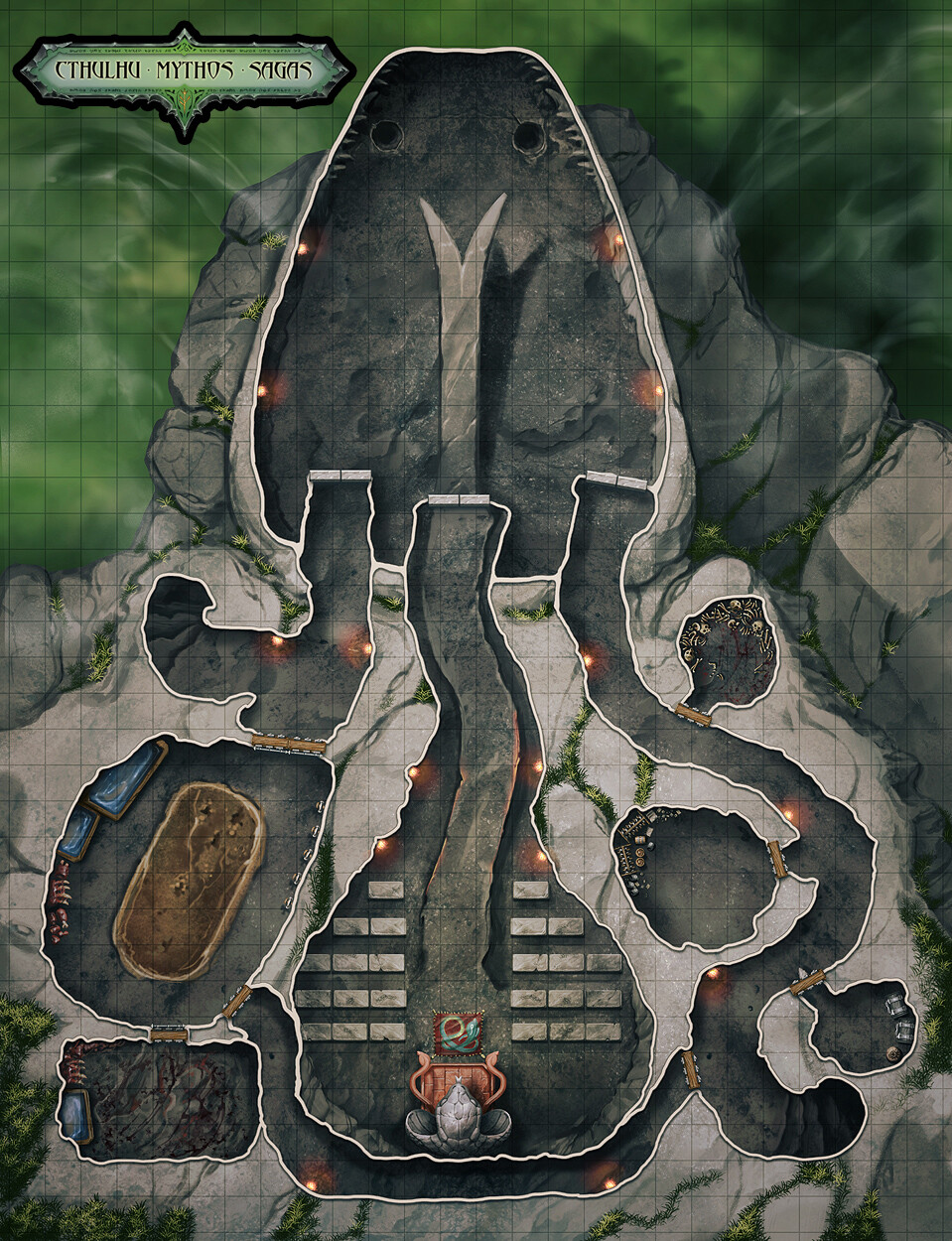 Snake Head Temple Map