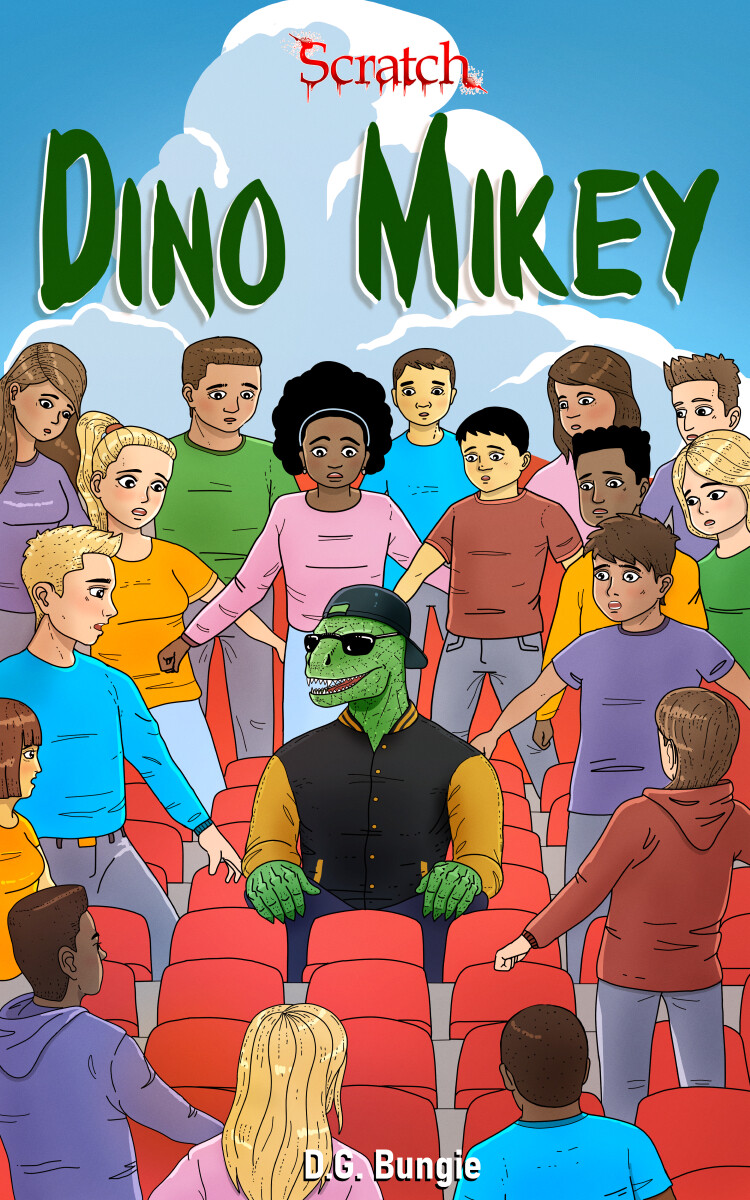 Dino Mikey Book Cover Design