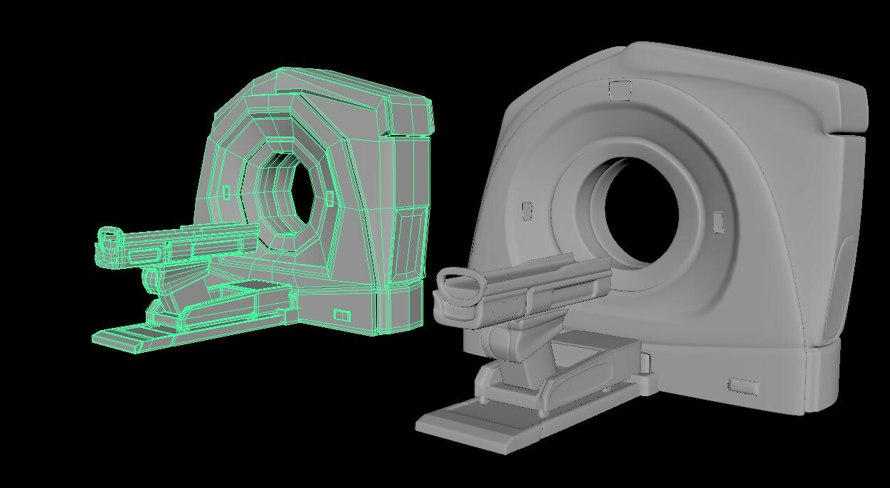 Low Poly and smoothed preview