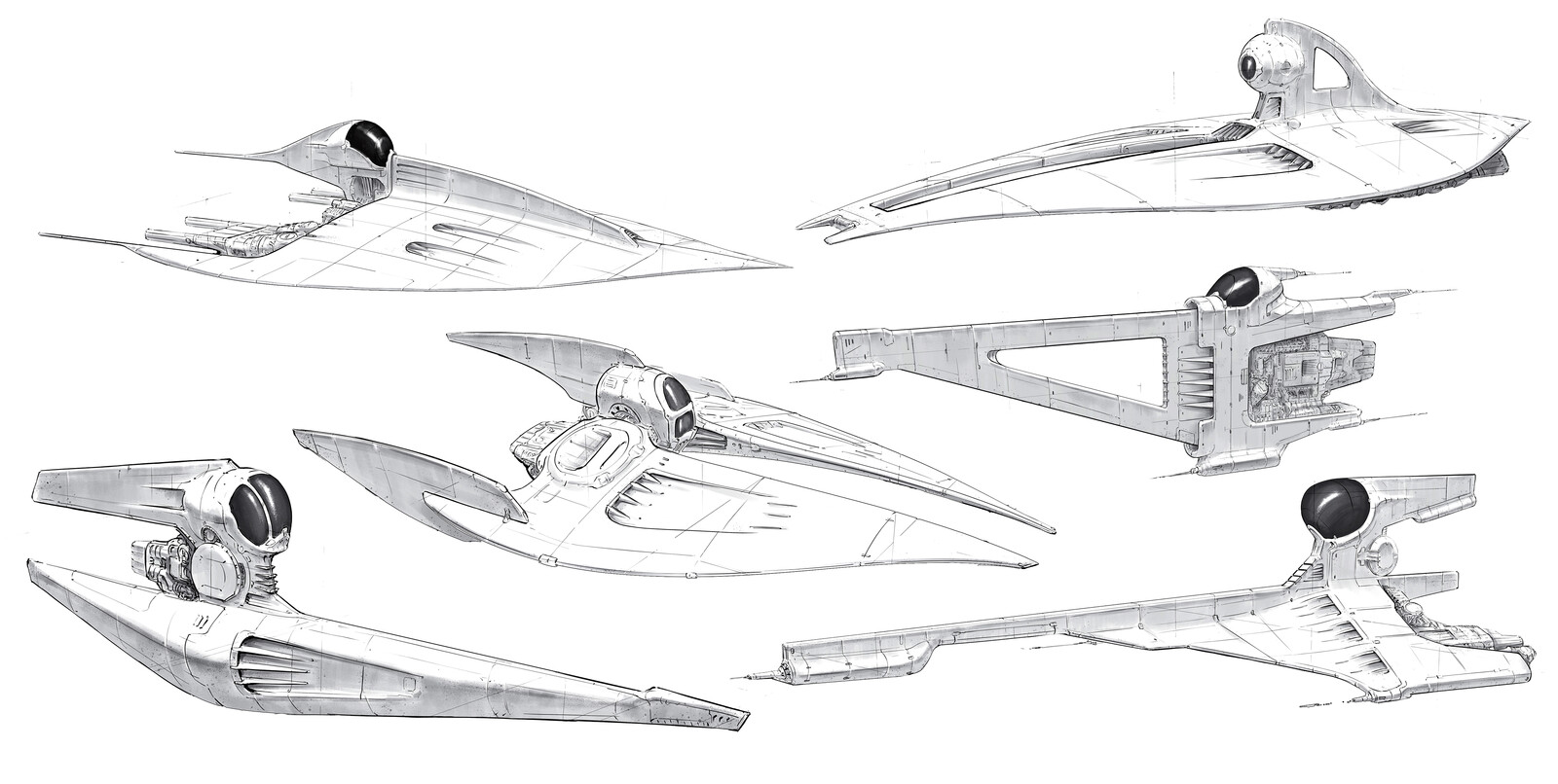 Spaceship sketches .1