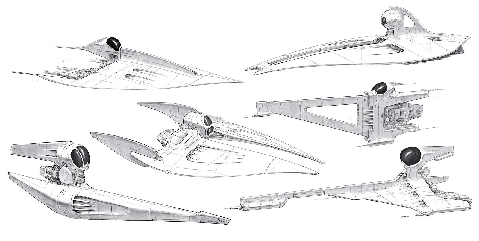 Spaceship sketches .1