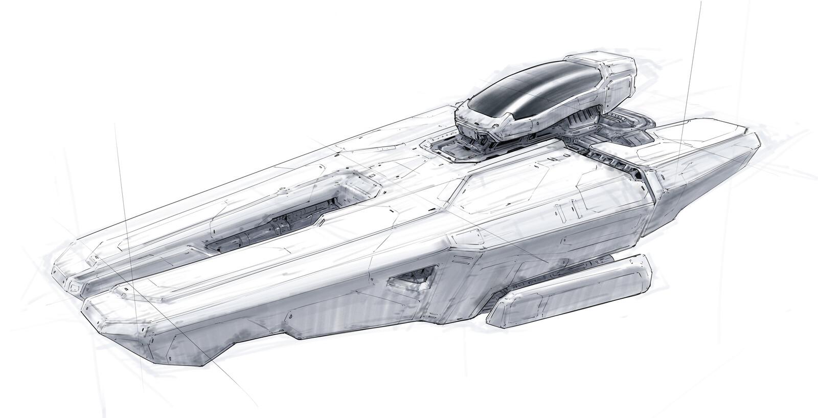 Spaceship sketches .3