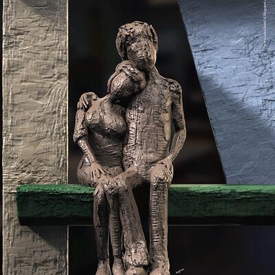 Surajit sen togetherness digital sculpture surajitsen jul2020a