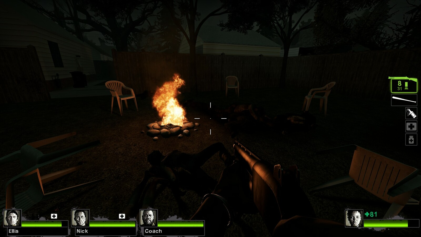 Since players can run into several backyards and then be funneled through to the correct street, they can encounter various stories being told through the environment.