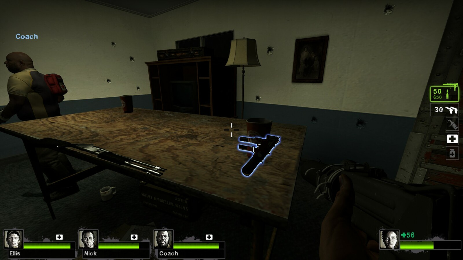 The next safe house is supplied with more weaponry and supplies for players to use.