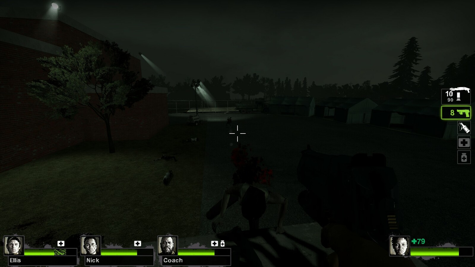 More lighting use to guide the player.