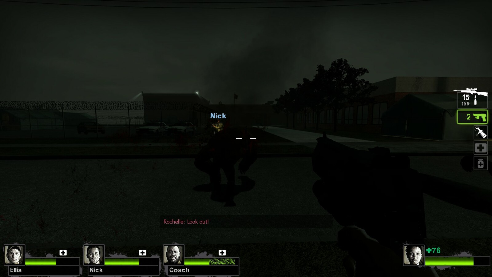 Before players can escape they must fight off one final encounter. This tank is scripted and will always spawn, in L4D2 a director AI entity controls when special zombies can spawn, but here it's set to always be the final encounter.
